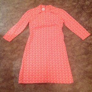 Vintage Fitted Retro Geometric Designed Dress